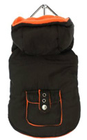 Brown Orange Fleece-Lined Bodywarmer