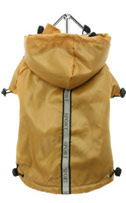 Gold Fleece-lined Chihuahua Raincoat