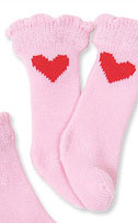 Heart Dog Socks (4 pk single heart)