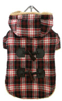 Red Black Tartan Teddy Bear Duffle
