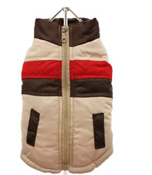 beige quilted gilet coats for dogs