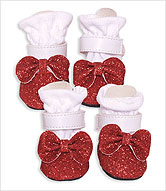 red chihuahua booties