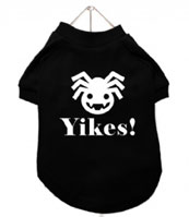 chihuahua clothes Halloween spider yikes t-shirt