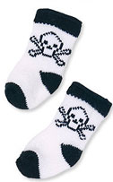Black and White Skull Dog Socks